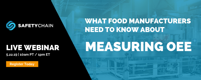 Training Webinar - What Food Manufacturers Need to Know about Measuring OEE - Register Today