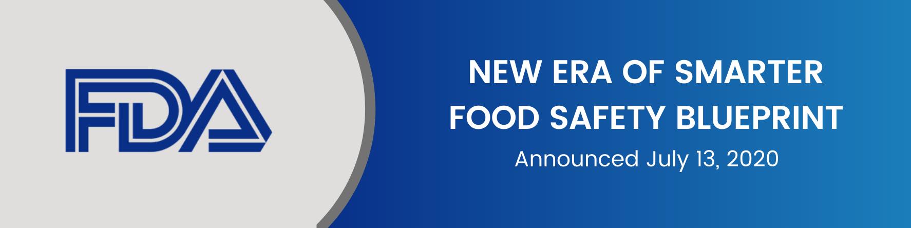New Era of Smarter Food Safety Blueprint